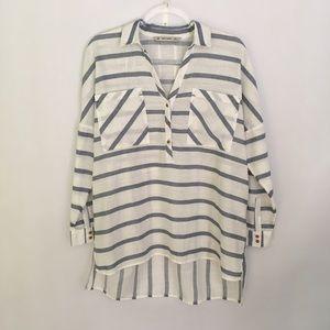 Zara Basic Oversized Striped Tunic Shirt
